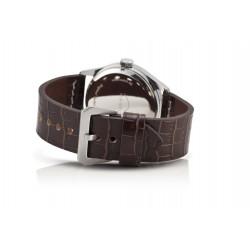 Bergmann Tachometer Uhr Porsche 356 Pre A Modell 1 Uhr 01 schwarzes Glattleder-Armband