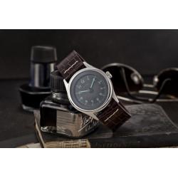 Bergmann Tachometer Uhr Porsche 356 Pre A Modell 1 Uhr braunes Kroko-Armband