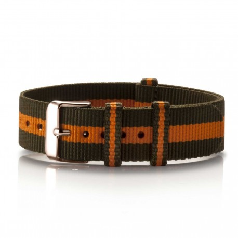 Textil-Armband Olivia oliv-orange
