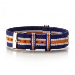 Nato Armband Textil Azul...