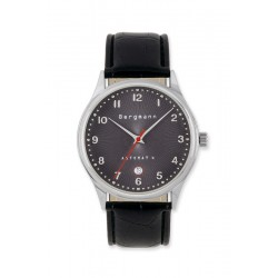 Bergmann-Uhr Automat 4 Kroko schwarz