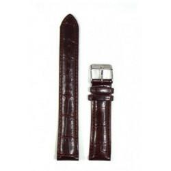 Original Bergmann Genuine Lederarmband braun in Kroko-Optik, 20mm