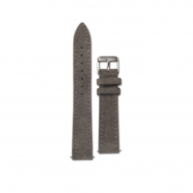 Original Bergmann Cor Grau Wildlederarmband 18 mm