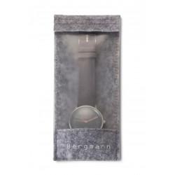 Bergmann-Uhr Cor Grau  Wildlederarmband