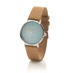 Bergmann-Uhr Cor Blau  ECHT Wildlederband