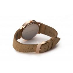 Bergmann-Uhr Cor Sand Wildlederarmband