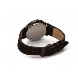 Bergmann-Uhr Cor Schwarz  ECHT Wildlederband