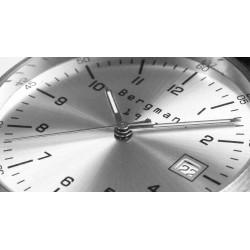 Bergmann Uhr 1957 braun Reptil
