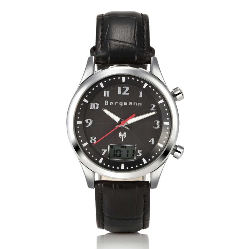 Bergmann ECOSOL Multifrequenz-Funk-Armbanduhr schwarz