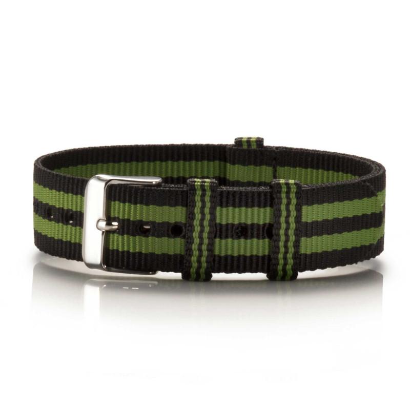 Textil-Armband Preto Verde schwarz-grün