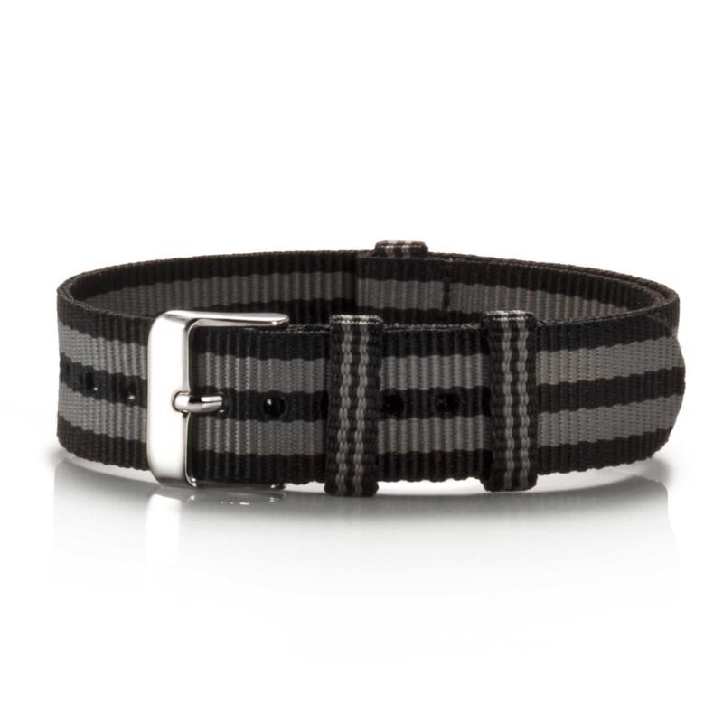 Textil-Armband Pretogrey schwarz-grau