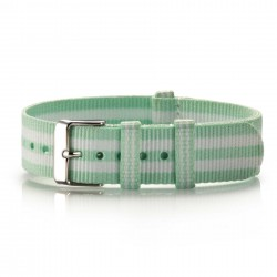Textil-Armband  Minto mint-weiß