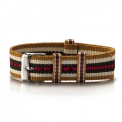 Textil-Armband Ouro gold-weiß-braun-rot