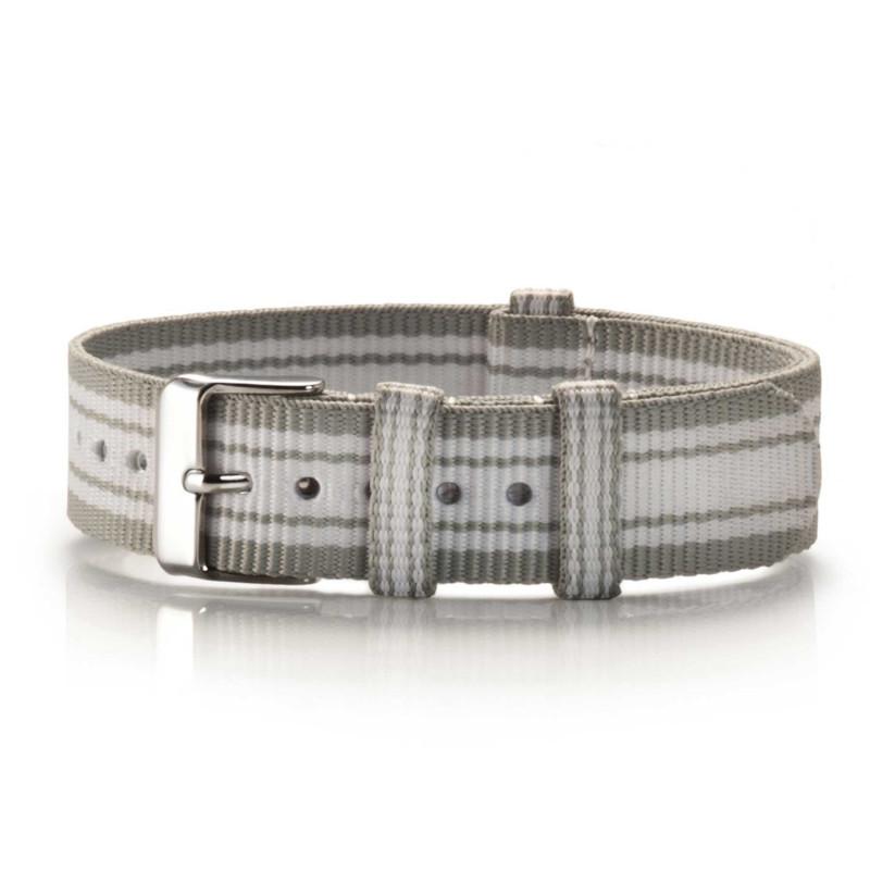 Textil-Armband Chinza grau-weiß
