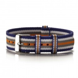 Textil-Armband Colorido blau-weiß-grau-orange
